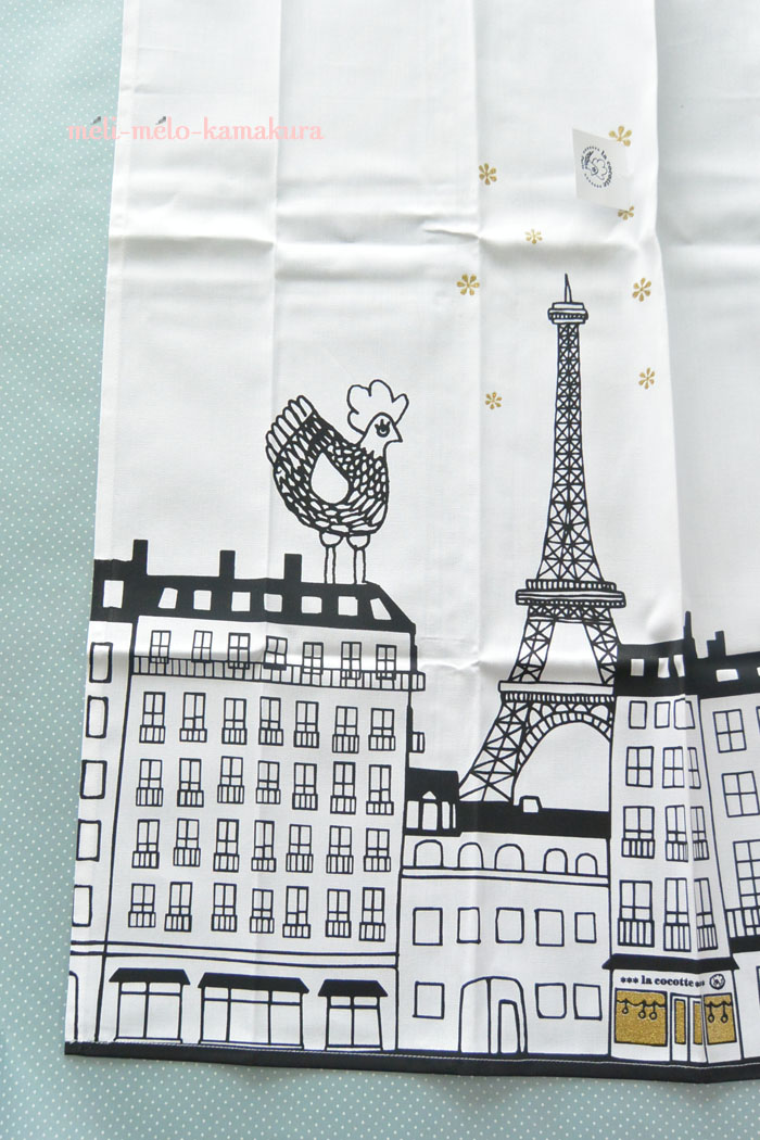 ◆【ネットショップ新商品】パリの街とめんどりがキュート!『La Cocotte Paris』のトルション_f0251032_16323061.jpg