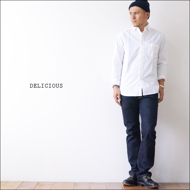 DELICIOUS [デリシャス] Pujol WHITE OXFORD BD SHIRTS [DS0103] MEN\'S_f0051306_13520156.jpg