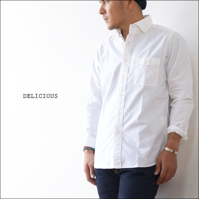 DELICIOUS [デリシャス] Pujol WHITE OXFORD BD SHIRTS [DS0103] MEN\'S_f0051306_13520175.jpg