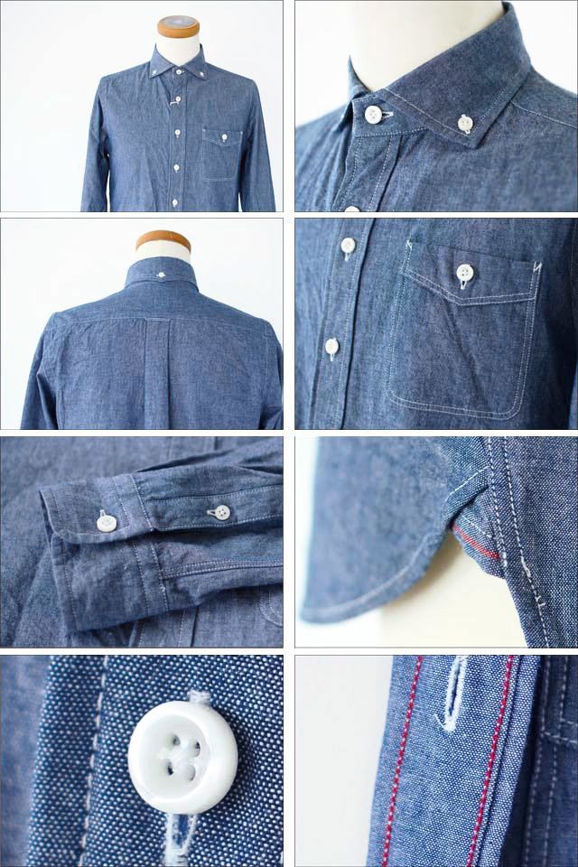 DELICIOUS [デリシャス] Pujol BLUE CHAMBRAY [DS0148/DS0103] MEN\'S_f0051306_13544620.jpg