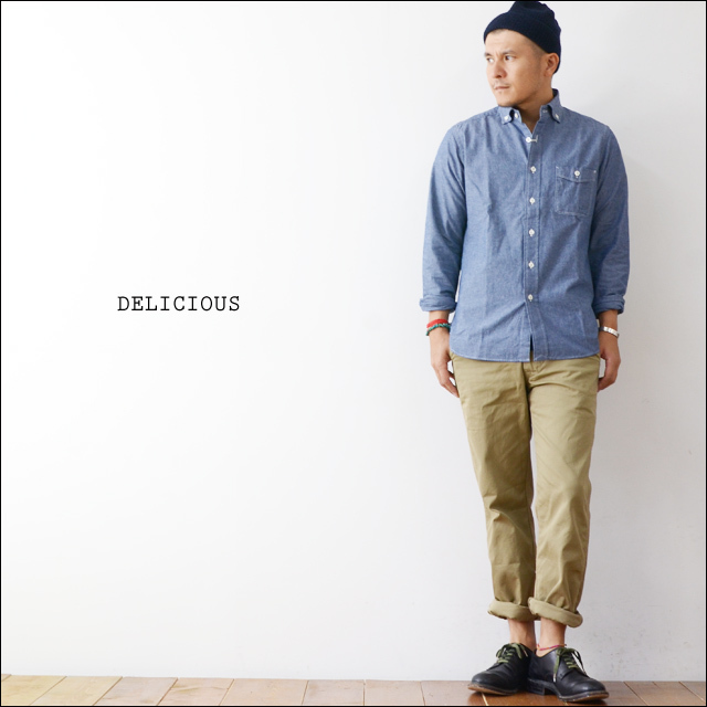 DELICIOUS [デリシャス] Pujol BLUE CHAMBRAY [DS0148/DS0103] MEN\'S_f0051306_13544630.jpg