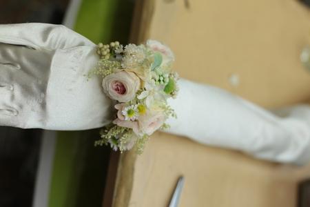 花冠と手首の花、リストブーケ 京都まで_a0042928_010123.jpg
