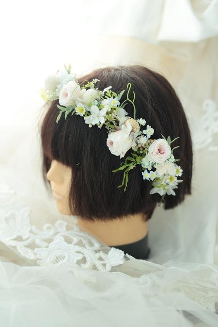 花冠と手首の花、リストブーケ 京都まで_a0042928_0134730.jpg