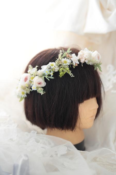 花冠と手首の花、リストブーケ 京都まで_a0042928_082777.jpg