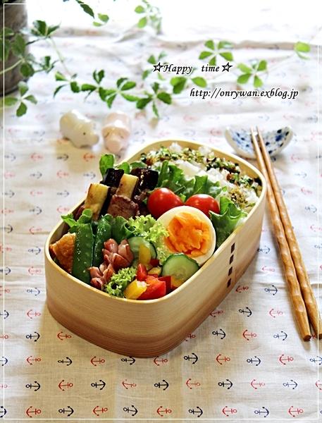 茄子の肉巻き弁当と海ぶどうで呑み比べ♪_f0348032_18591321.jpg