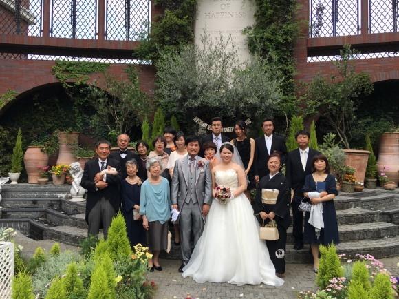た大原晶子ちゃんの息子、弘くん結婚式_a0163623_21381088.jpg