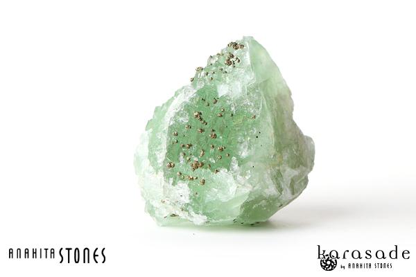 パイライトonフローライト原石(モロッコ産)_d0303974_18312518.jpg