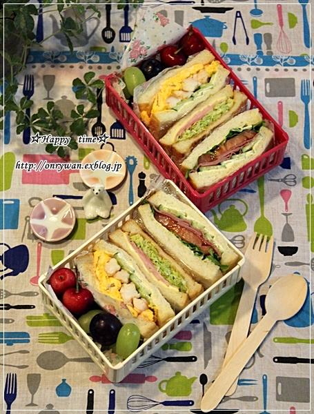 リベンジ湯種食パンでサンドイッチ弁当♪_f0348032_19040663.jpg