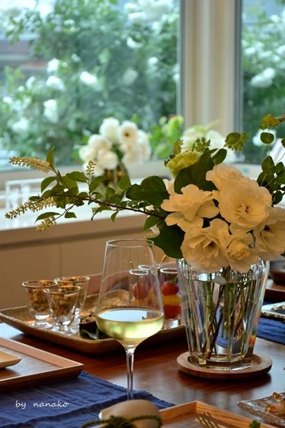 バラを愛でながらのホームランチ_c0364500_21132749.jpg