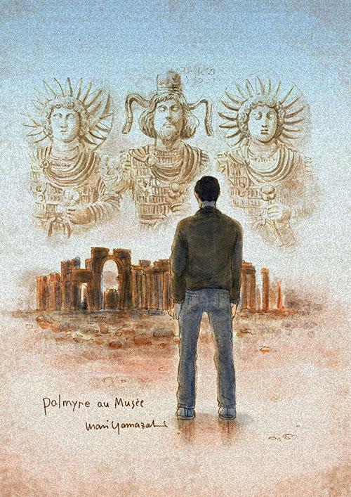 シリアのパルミラ遺跡を舞台にした読み切り漫画を描きました_a0087957_0563698.jpg