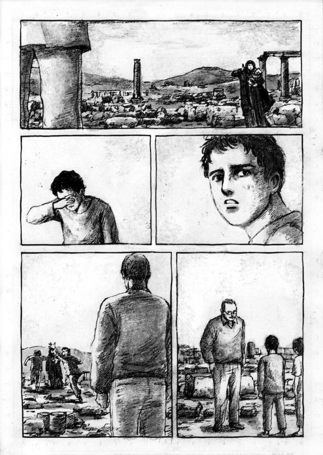 シリアのパルミラ遺跡を舞台にした読み切り漫画を描きました_a0087957_103927.jpg