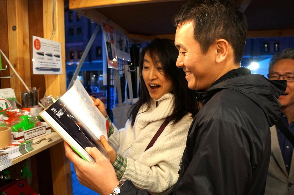 横浜レンガ倉庫、春のビール祭りにて。_c0180686_01522050.jpg