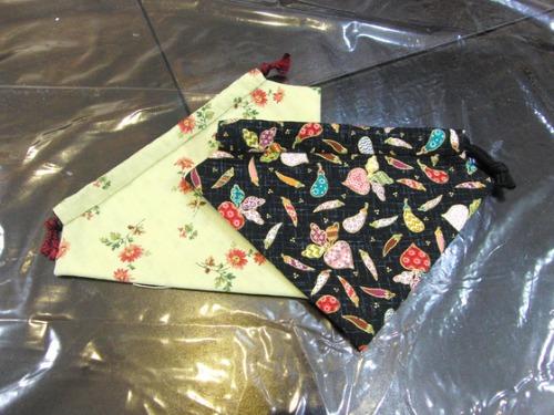 裁縫 ~ キルトのイチゴ型巾着 ~_e0222340_14573847.jpg