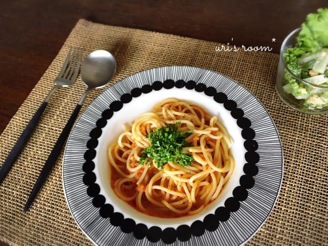 無印の和えるだけパスタソース食べ比べ。それから最近お気に入りのパンツ。_a0341288_14160600.jpg