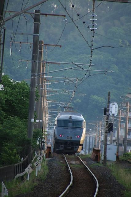 藤田八束の鉄道写真@鹿児島本線特急列車「きりしま」・・・オバマ大統領広島を訪問、オバマ大統領の英断_d0181492_18404748.jpg