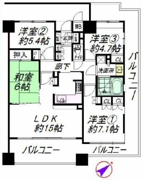 福島区リユース物件 堂島川シティハウス4LDK 販売スタート_b0121630_1815999.jpg