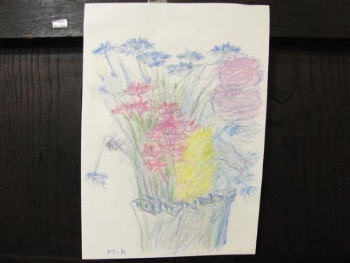 色鉛筆画 ~ 花束スケッチ ~_e0222340_15315120.jpg