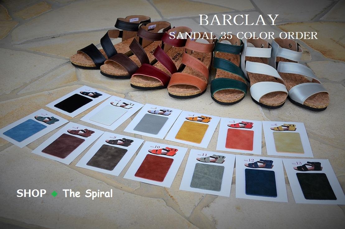 """BARCLAY~35色から選べるサンダル~Color Sample""_d0153941_15571553.jpg"