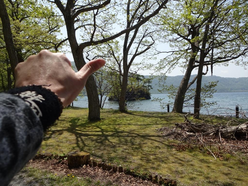 帰青今年2回目 【5/18】 快晴の十和田湖と奥入瀬渓流_d0061678_1652482.jpg