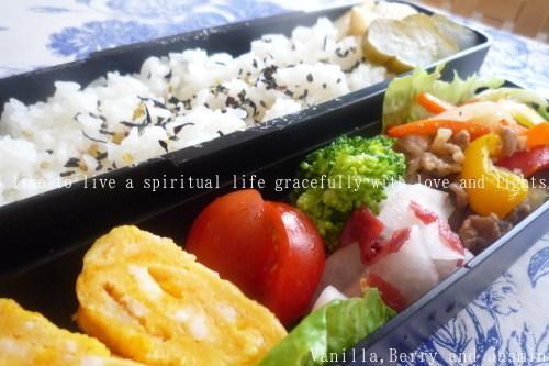 【今日のお弁当】「野菜炒め弁当」&「肉じゃが弁当」_c0332287_18422642.jpg