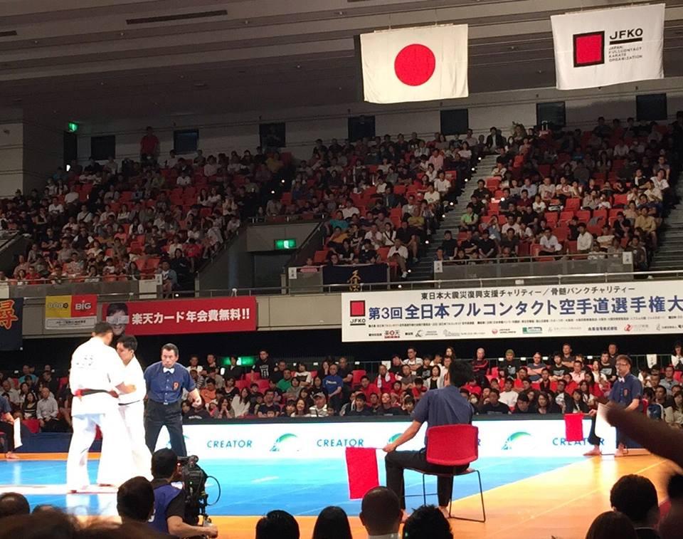 史上最大のオープントーナメント「第3回全日本フルコンタクト空手道選手権大会」が無事に終了出来ました。_c0186691_1132318.jpg