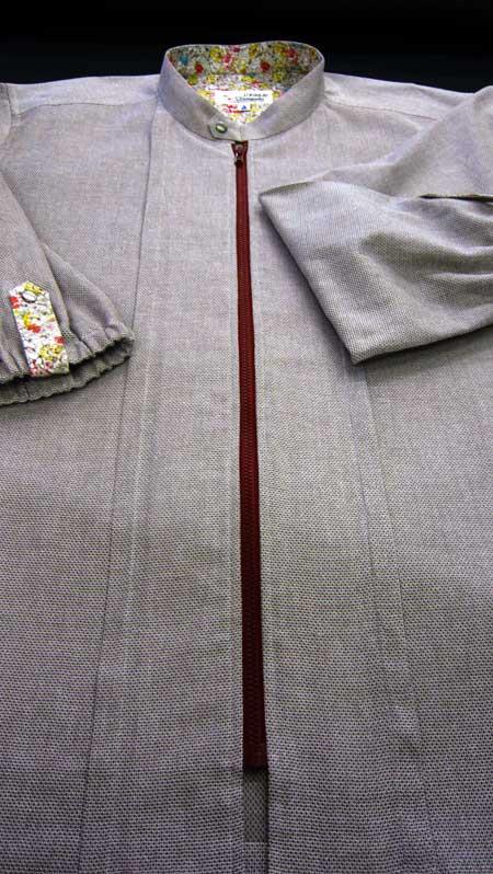 ジップシャツ ブラウン_a0110103_21125016.jpg