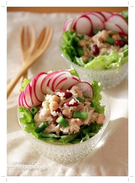 お豆とキヌアの塩レモンサラダ_f0179404_22285960.jpg