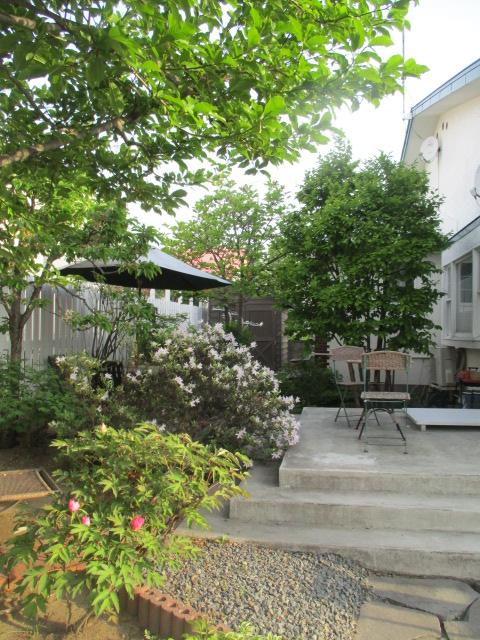 お庭の様子とデザート作り_a0279743_752480.jpg