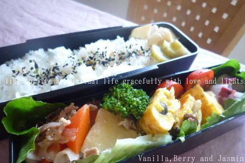 【今日のお弁当】「野菜炒め弁当」&「肉じゃが弁当」_c0332287_13175663.jpg