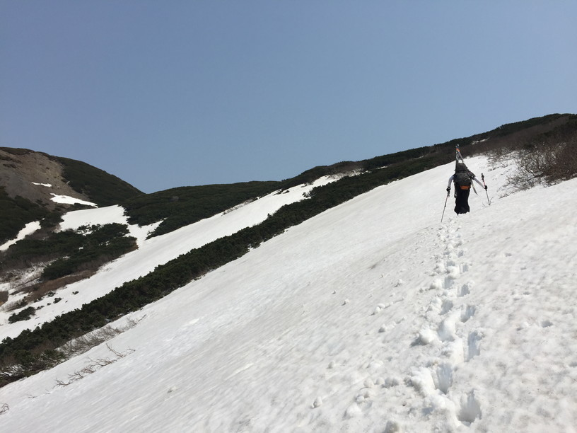 "2016年5月 『オカマをスベル』 May 2016 ""Ski into the Crater Pot of Mt Youtei\""_c0219616_22255513.jpg"