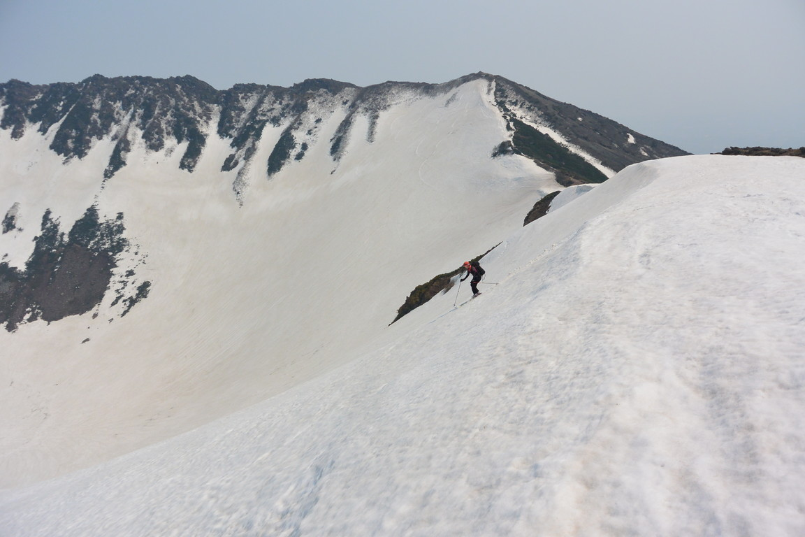 "2016年5月 『オカマをスベル』 May 2016 ""Ski into the Crater Pot of Mt Youtei\""_c0219616_22304228.jpg"