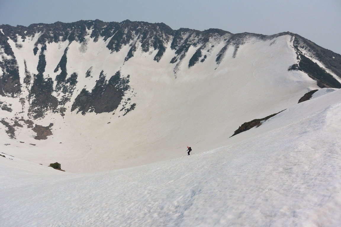 "2016年5月 『オカマをスベル』 May 2016 ""Ski into the Crater Pot of Mt Youtei\""_c0219616_22311879.jpg"