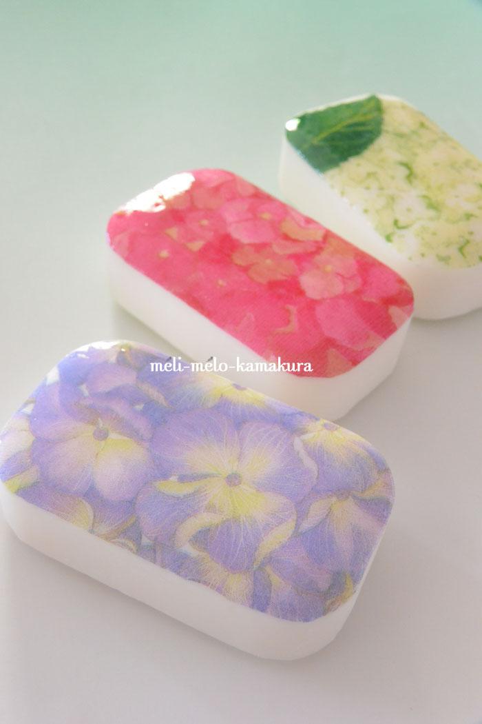 ◆デコパージュ*紫陽花シーズン到来!と石けん_f0251032_6344387.jpg