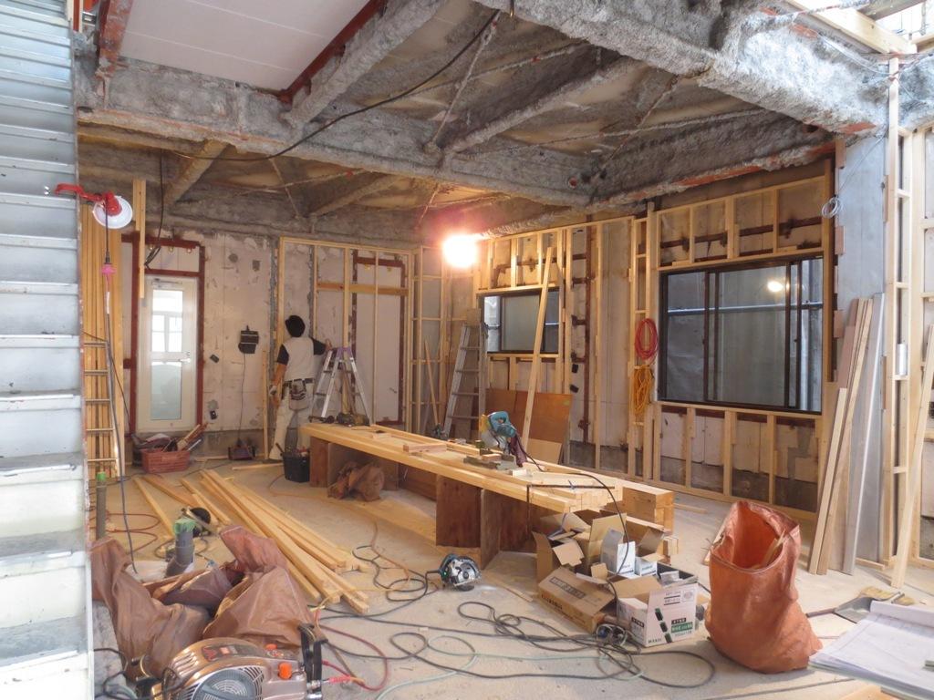 桜台の家改修 外壁木下地工事_c0310571_22162312.jpg