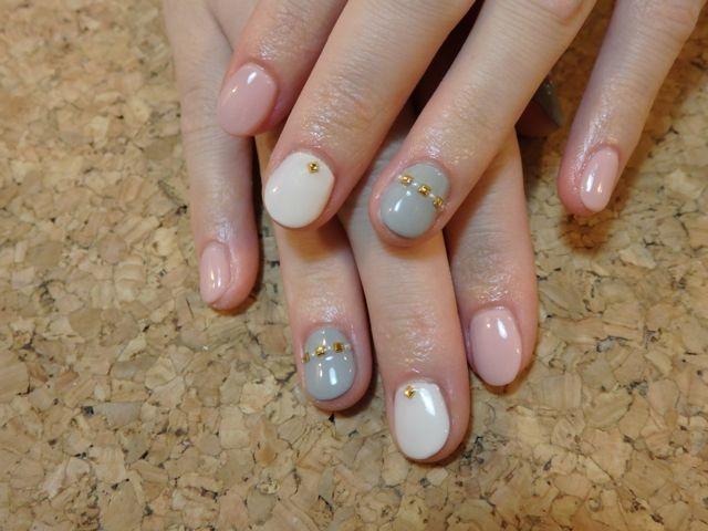 Pink × Grey Nail_a0239065_15503514.jpg