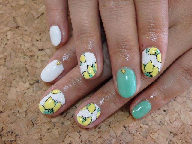 Lemon Nail_a0239065_16024739.jpg