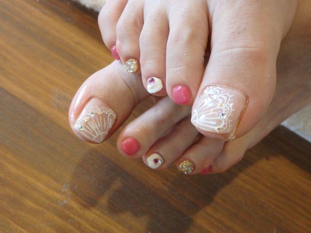Lace Foot Nail_a0239065_16042660.jpg