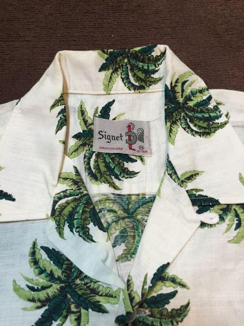 5月28日(土)入荷!60s all cotton パームツリー ハワイアンシャツ!_c0144020_16151412.jpg