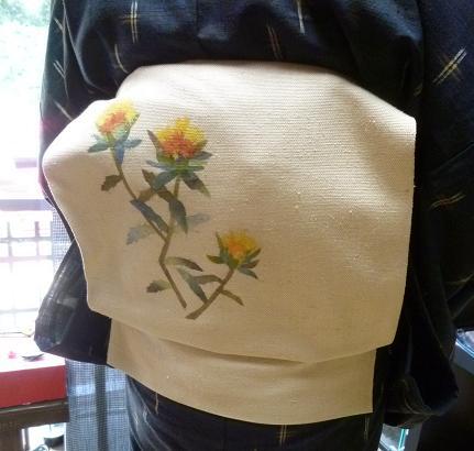ファッションカンタータの久米島紬のお客様・黒い蝶。_f0181251_1735566.jpg