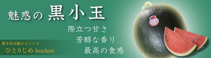 熊本スイカ『黒小玉(ひとりじめbonbon)』 赤い果肉好評発売中!&黄色い果肉の受付スタート!_a0254656_19544266.jpg
