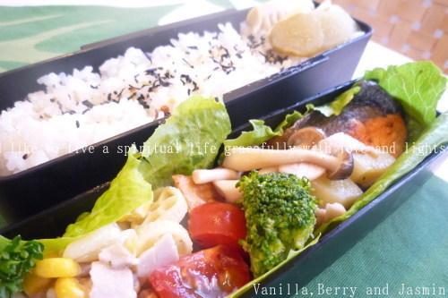 【今日のお弁当】「鮭のムニエル弁当」&「豪華!ステーキ弁当」_c0332287_10453786.jpg