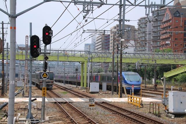 東海道本線JR岸辺駅にて・・・・貨物列車レッドサンダーに逢う _d0181492_2194165.jpg