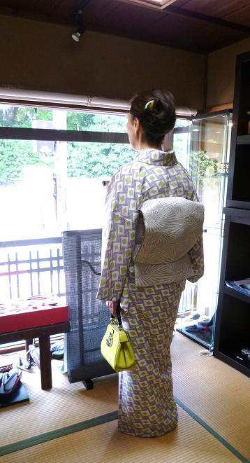 ファッションカンタータのお客様・小糸染芸の着物、帯_f0181251_1740582.jpg