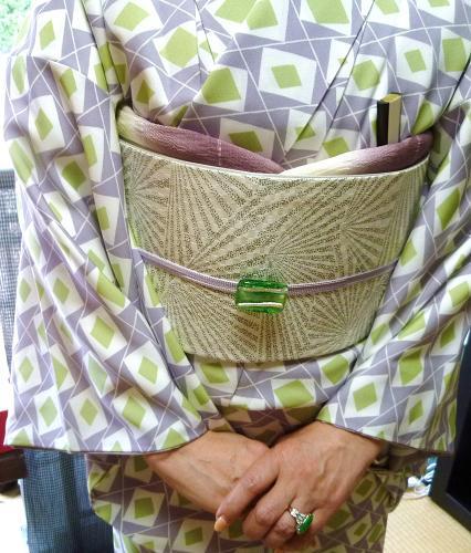 ファッションカンタータのお客様・小糸染芸の着物、帯_f0181251_17495849.jpg