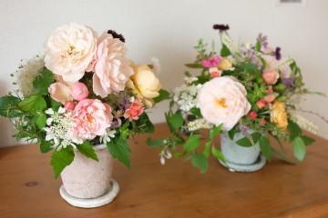 * 6月 flower room 紫陽花の花束とコサージュ♪ *_a0161718_19104940.jpg