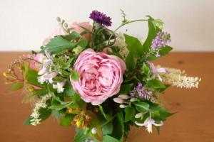 * 6月 flower room 紫陽花の花束とコサージュ♪ *_a0161718_19155343.jpg