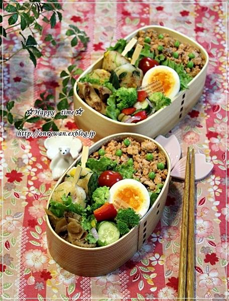 鮭フレークご飯弁当とバゲット♪_f0348032_17251540.jpg