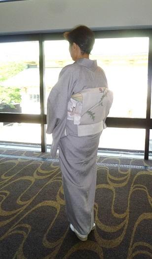野田さんコンサートのお客様・花織にアザミ帯・半襟_f0181251_17342151.jpg