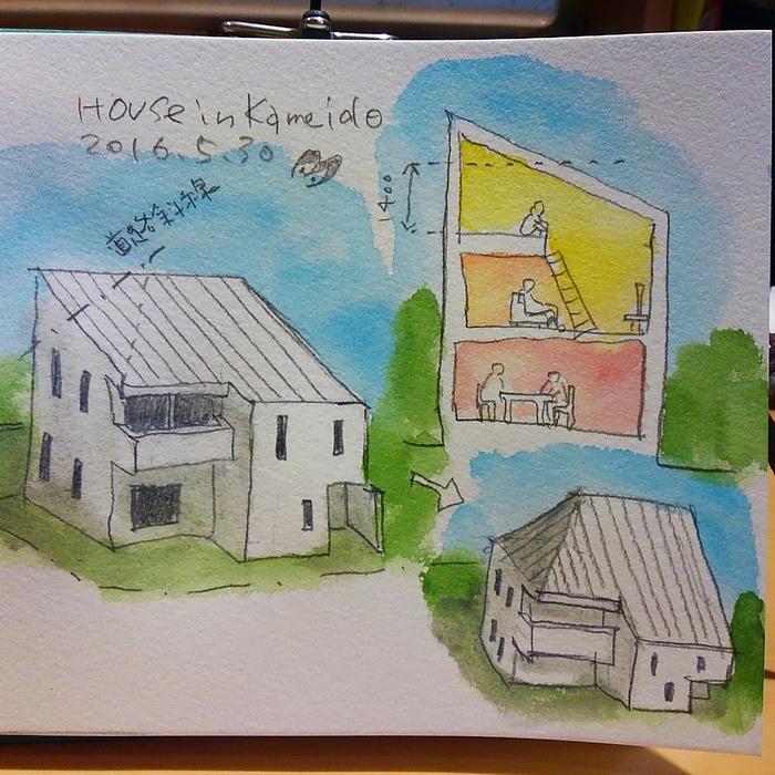 「亀戸の家」スケッチ_f0230666_203832.jpg