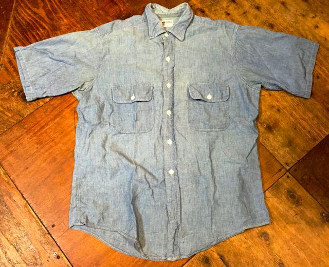 平日ですが、入荷しております!!60s all cotton !DONEGAL 半袖シャンブレーシャツ!_c0144020_14504659.jpg